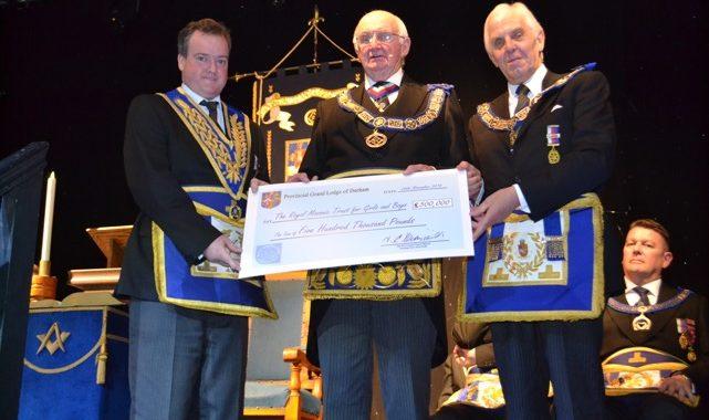 £500,000 Cheque Presentation