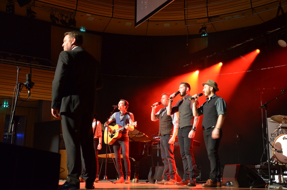Local entertainer Chris tame support by Chasing Mumford