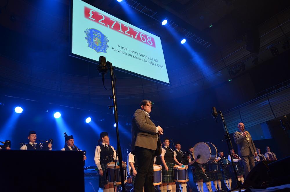 The Festival President, John Thompson and Provincial Grand Master Eric Heaviside