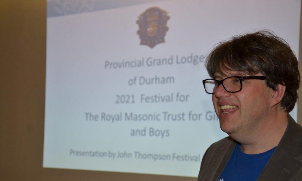Presentation by John Thompson Festival Director