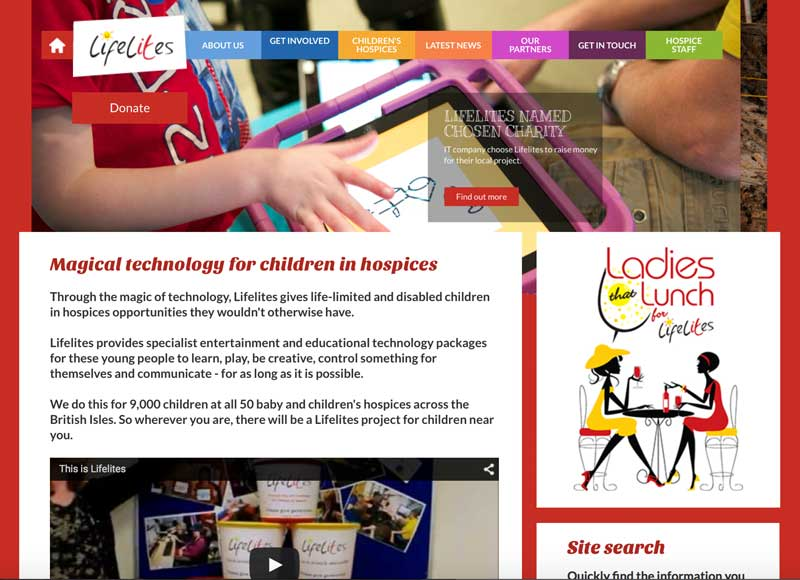 Lifelites for children in hospices