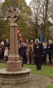 Old Masonians made the trip to pay his own personal tribute and join the Old Masonians Association as they attend the annual remembrance service at the Girls school